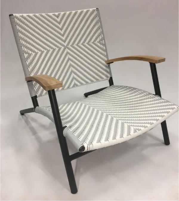 Villa Chair_Zig Zag Grey&White 600 x 675